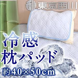 まくらパッド 40×50cm 竹レーヨンで爽やかな寝心地 接触冷感 ひんやり冷たい 西川 夏用 来客用 父の日 ギフト|futontanaka