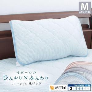 西川 モダール ひんやり 接触冷感 まくらパッド ピローパッド 43×63cm クール やわらか|futontanaka