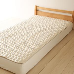 ベッドパッド シングル 西川 日本製  洗える 羊毛 ウール|futontown|04