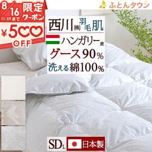 ◆商品名:肌掛け布団 セミダブル 羽毛 掛け布団 夏用 西川 洗える ◆商品お問合せ番号:49372...