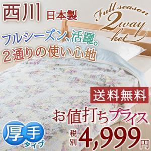タオルケット シングル 西川 日本製 フルシーズン使える万能...