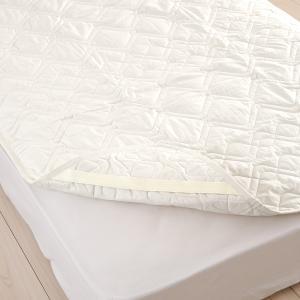 東京西川 西川産業 ウォッシャブル コットンベッドパッド クイーン 詰め物綿100% 洗えるベッドパッドクィーン|futontown|06