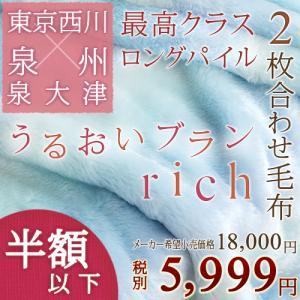 毛布 シングル 東京西川 西川産業 うるおいブランリッチ 2枚合わせ アクリル毛布 日本製 ブランケット 西川|futontown