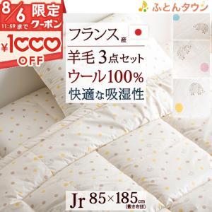 ジュニア布団セット・日本製 掛けふとんと枕が洗える綿100% ジュニア組布団3点セット/子供用布団セット/ハリネズミ|futontown
