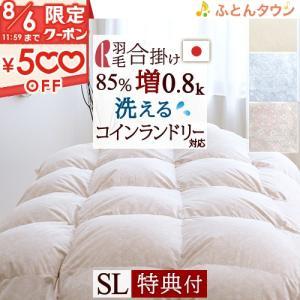 羽毛布団 シングル 合い掛け布団 日本製 ポーランド産ダウン85%羽毛合掛け布団 寝具 布団 日本製 シングルサイズ futontown