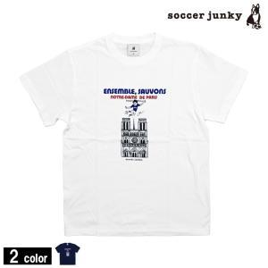 soccerjunkyの ノートルダム!!  サッカージャンキーのTシャツです。  2019年4月1...