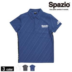 Spazioの ダイアゴナルストライプエンボスポロシャツ!!    スパッツィオのポロシャツです。 ...