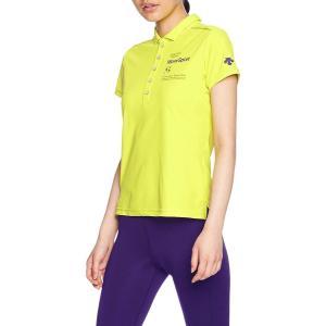デサント トレーニング UVカット ポロシャツ MOVESPORTS DMWLJA71 GYEL O