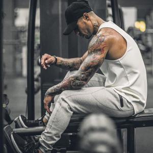 Manatsulife ロングパンツ メンズ  トレーニングパンツ ボトムス ジム ジョガーパンツ フィットネス ファスナー付き スウェットパンツ K09|futurelife