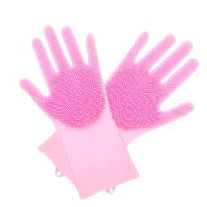 商品名:ブラシ付きゴム手袋  素材:100%シリコン  特徴:最大-40℃から160℃まで魅力的な耐...