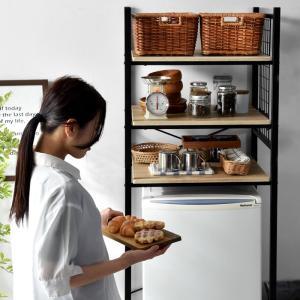 冷蔵庫ラック レンジ台 キッチン収納 レンジラック|futureoffice|07