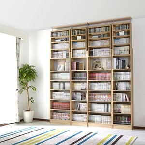 本棚 書棚 コミック スリム おしゃれ 大容量 薄型 突っ張り 幅45cm 本棚|futureoffice|16