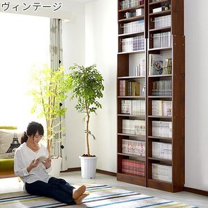 本棚 書棚 コミック スリム おしゃれ 大容量 薄型 突っ張り 幅45cm 本棚|futureoffice|10