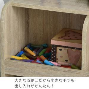 おもちゃ収納 おもちゃ箱 本棚 絵本棚 ラック おしゃれ 北欧 収納ボックス リビング 大容量|futureoffice|03