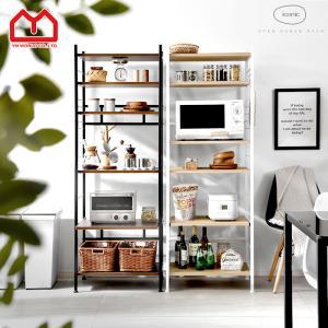 レンジ台 キッチンラック 食器棚 6段 北欧 おしゃれ 大型レンジ対応 収納 約幅60|収納 本棚&食器棚 ラック YMWORLD