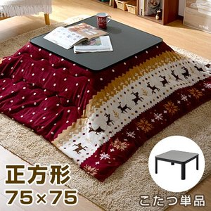 こたつ コタツ 炬燵 テーブル 正方形 一人用こたつ ミニ カジュアル 本体 75×75cm
