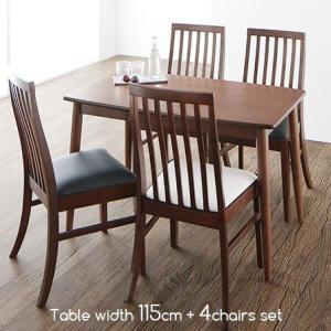 天然木 ダイニングテーブル チェア4脚 5点セット 幅115cm ダイニング テーブル 椅子 セット 食卓 食卓テーブル 4人 ダイニングセット おしゃれ 北欧 モダン|futureoffice