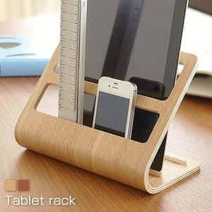 タブレット リモコンラック 木製 スタンド|futureoffice