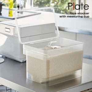 米びつ 5kg 密閉 計量カップ付き 透明 ライスストッカー ライスボックス 冷蔵庫|futureoffice