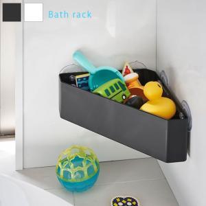 ■商品名 吸盤バスルームコーナーおもちゃラック タワー  ■取扱タイプ ホワイト(白)、ブラック(黒...