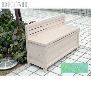 物置 物置き 収納庫付き 天然木製ベンチ 収納 小型 屋外 ガーデニング 幅90cm おしゃれ futureoffice 04