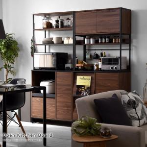 食器棚 キッチン収納 おしゃれ 幅80cm レンジ台 大型レンジ対応 北欧 ラック|収納 本棚&食器棚 ラック YMWORLD