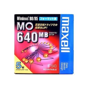 maxell データ用 3.5型MO 640MB Windowsフォーマット 5枚パック MA-M640.WIN.B5P|futureshop