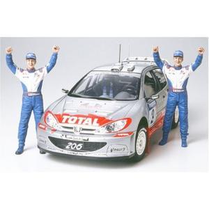 タミヤ 1/24 スポーツカーシリーズ No.262 プジョー 206 WRC 02 ウィナー仕様 プラモデル 24262|futureshop