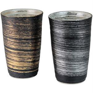 ランチャン(Ranchant) ペア陶酒杯 マルチ Φ7.9x12.2cm 金銀刷毛 有田焼 陶悦窯 日本製|futureshop