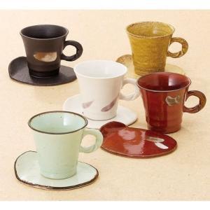 五彩L型コーヒー碗皿5客揃 T-7206|futureshop