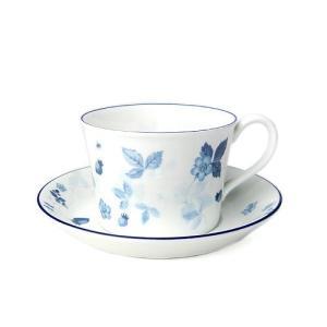 Wedgwood (ウェッジウッド) ストロベリー ブルー ティーカップ&ソーサー デルフィー 【並行輸入品】|futureshop