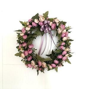 桜の雪 きれい 店舗 玄関 壁掛け 庭園 飾り 結婚式 造花 花輪 撮影 道具 52cm (パープル)|futureshop