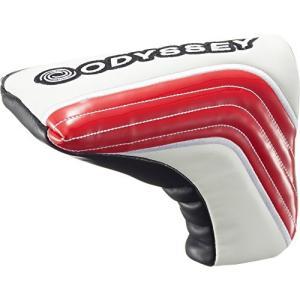 ODYSSEY(オデッセイ) ヘッドカバー Solid Blade ヘッドカバー パター用 メンズ 5517088 レッド/ブラック futureshop
