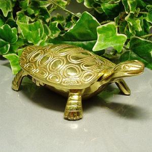 風水運気好転 金色の亀の置物[大]真鍮製 fuusui-do