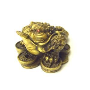 金運グッズ・風水三本脚の蛙です。  手のひらサイズの可愛いカエルさんです。    ★≪北斗七星カエル...
