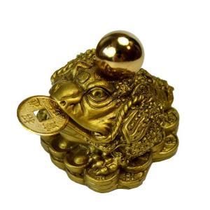 金運グッズ・風水三本脚の蛙です。  手のひらサイズの可愛いカエルさんです。    ★≪三本脚のカエル...