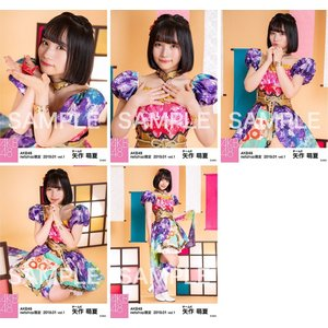 矢作萌夏 生写真 AKB48 2019年01月 vol.1 個別 5種コンプ|fuwaneko