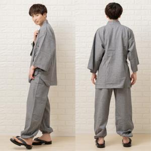 作務衣 男性 紬織り メンズ さむえ  M L LL 3L 4L fuwari 07
