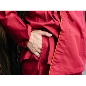 作務衣 女性 シワになりにくいTC生地 レディース 業務用 制服 ユニフォーム キャッシュレス5%還元|fuwari|09