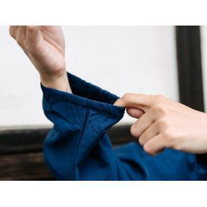 作務衣 女性 シワになりにくいTC生地 レディース 業務用 制服 ユニフォーム キャッシュレス5%還元|fuwari|10