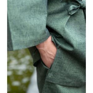 作務衣 男性用 特注の足首ゴム式 メンズ  おしゃれ さむえ 日本製|fuwari|15