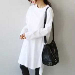 ロングTシャツ 長袖 3カラー フリーサイズ デイリーアイテム g-c