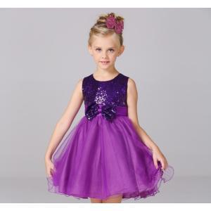 ドレス 子供 ノースリーブ フォーマル 演奏会 90 100 110 120 130 140 スパンコール 女の子 キッズ用品 プリンセスドレス 9色|g-c