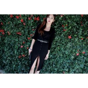 ロングカーディガン セーター 長袖 カジュアル ワンサイズ フリーサイズ 黒 ダークグレー|g-c|04