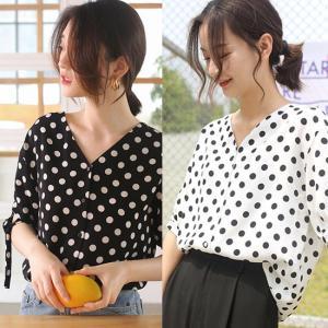 シャツ ブラウス 半袖 黒 ホワイト ブラック 韓国 夏 g-c