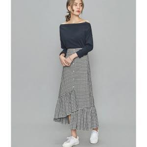 フィッシュテールスカート ロング ブラック ホワイト カジュアル チェック 夏 韓国 黒 白|g-c
