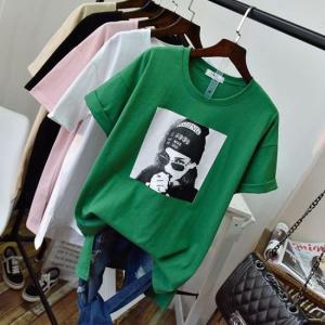 トップス シャツ Tシャツ 半袖 アメカジ カジュアル スタイリッシュ 普段使い デート ブラック ホワイト ピンク イエロー グリーン 韓 g-c