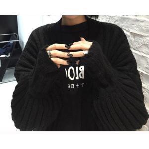 ロングカーディガン 長袖 ニット セーター カジュアル フリーサイズ グリーン カーキ ブラック グレー 秋 冬|g-c|05