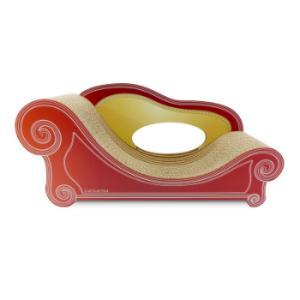 猫専用 爪とぎ ソファー アンティークレッド スタンダード M