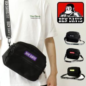 ショルダーバッグ ボディバッグ ロゴ コンパクト BEN DAVIS ベンデイビス LOGO TAPE SHOULDER 鞄 BAG 旅行 トラベル 通勤 通学 カジュアル ギフト プレゼント g-field